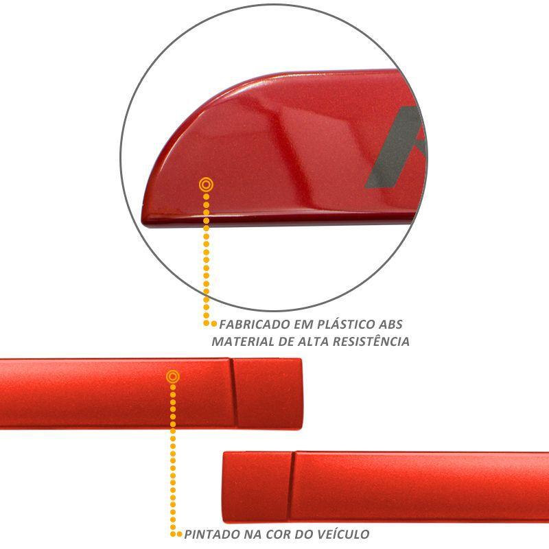 Jogo de Friso Lateral HB20 2013 a 2019 Rspec Vermelho Chili