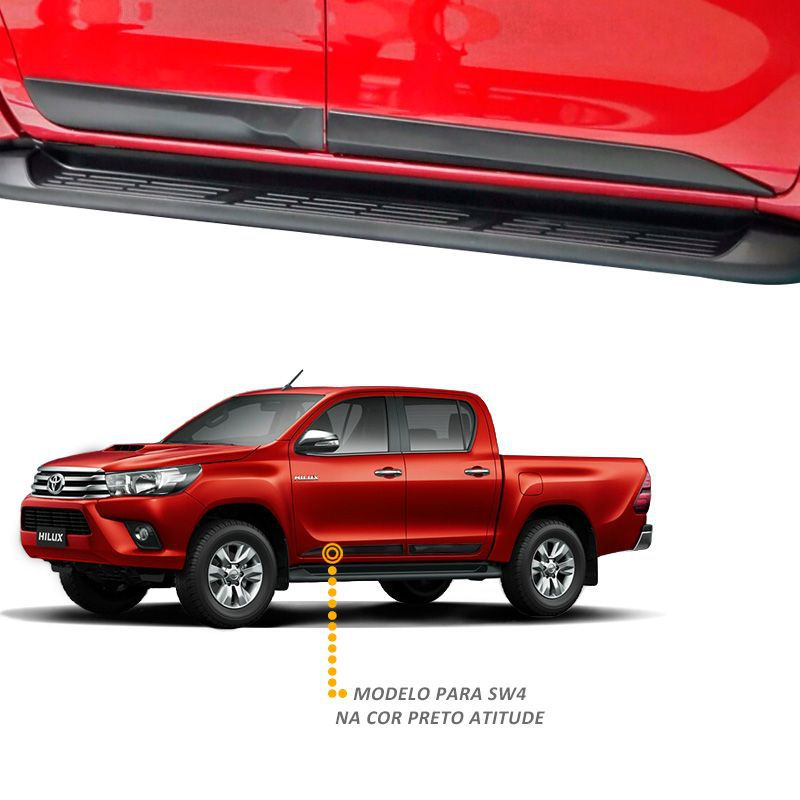 Jogo Friso Lateral Toyota Hilux 2016 a 2020 Modelo Original