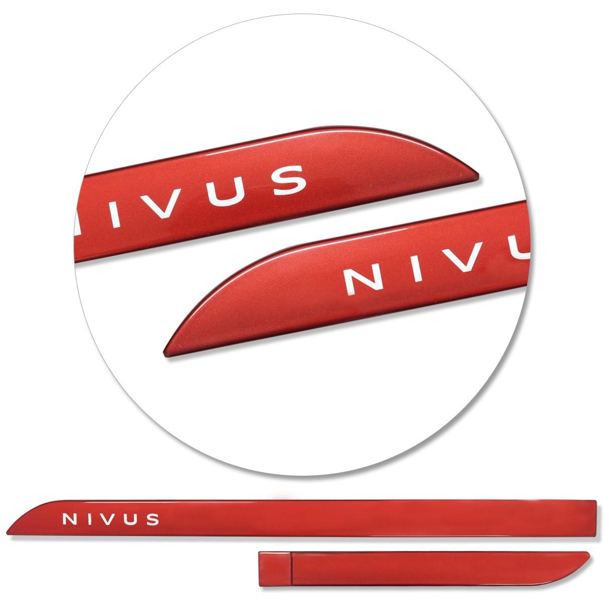 Jogo de Friso Lateral Nivus 2020 2021 Vermelho Sunset