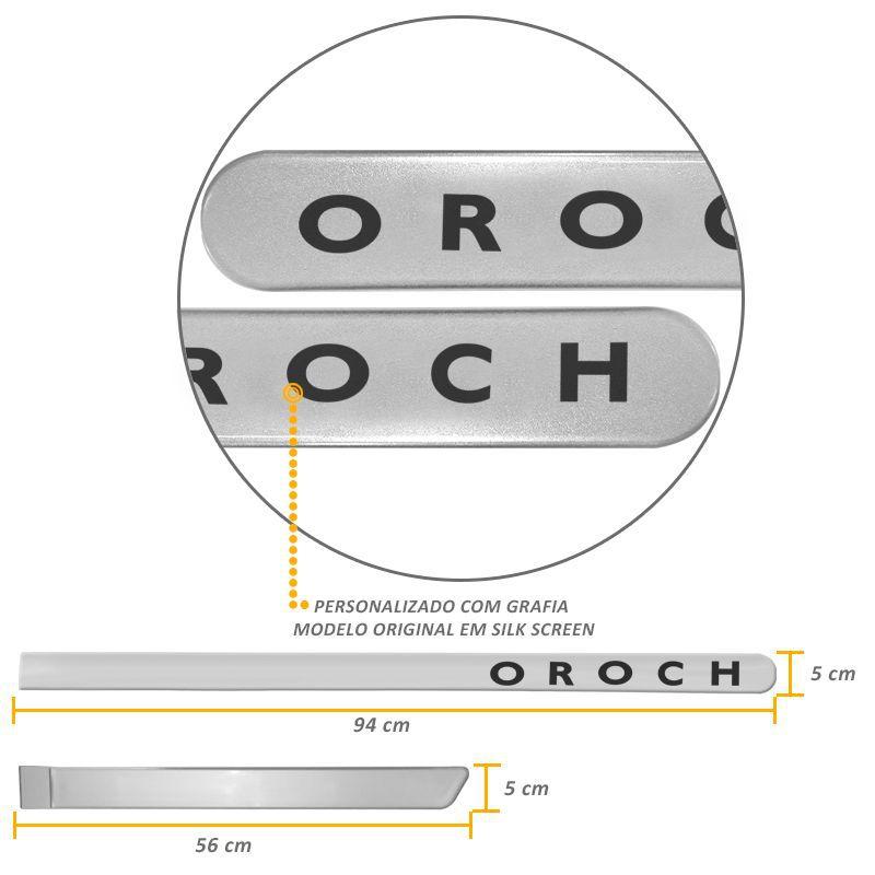 Jogo de Friso Lateral Oroch 2016 a 2019 Prata Etoile