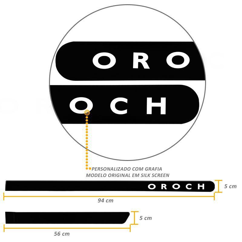 Jogo de Friso Lateral Oroch 2016 a 2019 Preto Nacre