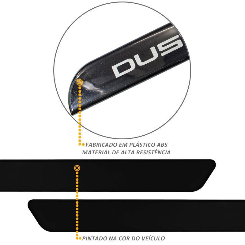 Jogo de Friso Lateral Duster 2012 a 2019 Preto Nacre