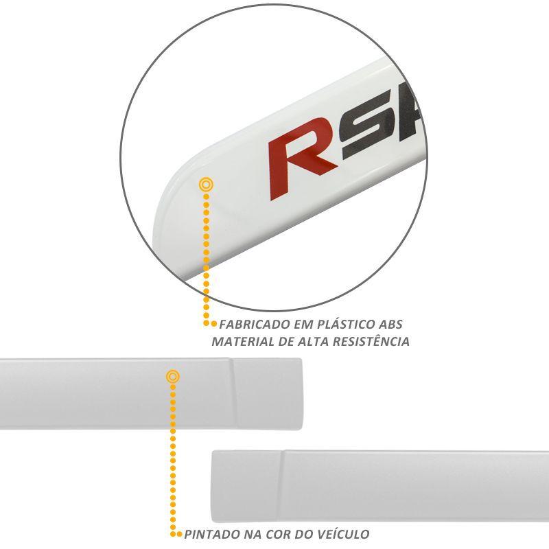 Jogo de Friso Lateral HB20 Rspec 2013 a 2019 Branco Polar