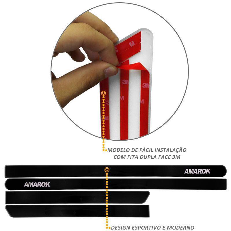 Jogo de Friso Lateral Amarok CS 2010 a 2019 Preto Mystic