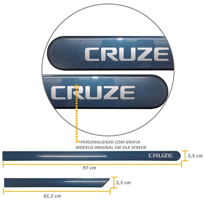 Jogo de Friso Lateral Cruze 2012 a 2019 Azul Sky