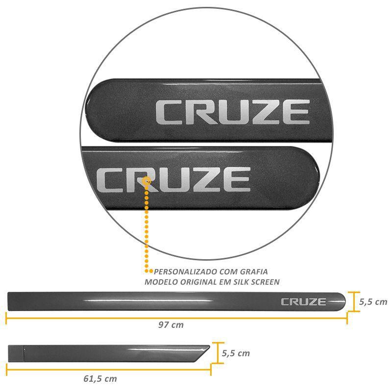 Jogo de Friso Lateral Cruze 2012 a 2019 Cinza Spetrus
