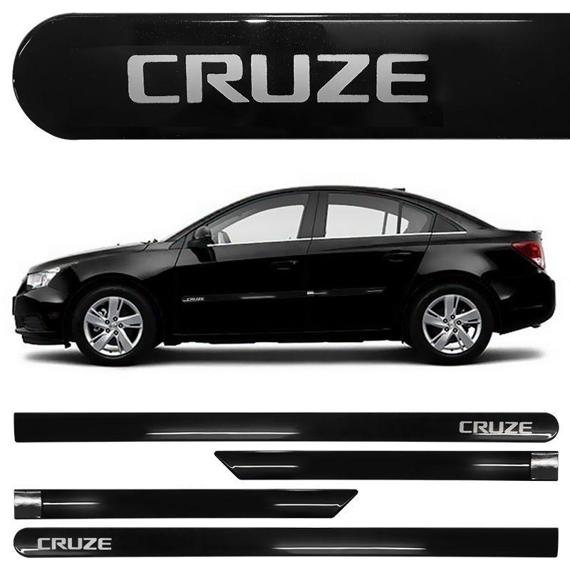 183971a51ac50 Jogo de Friso Lateral Cruze 2012 a 2019 Preto Carbon Flash - General Car ...