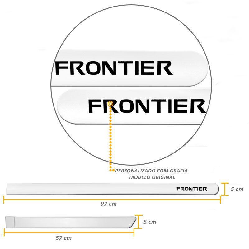 Jogo de Friso Lateral Frontier 2008 a 2020 Branco Glacial