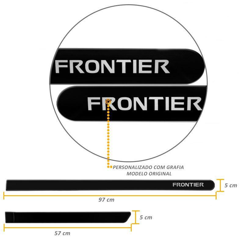 Jogo de Friso Lateral Frontier 2008 a 2019 Preto Premium