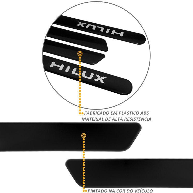 Jogo de Friso Lateral Hilux 2013 a 2015 Preto Eclipse