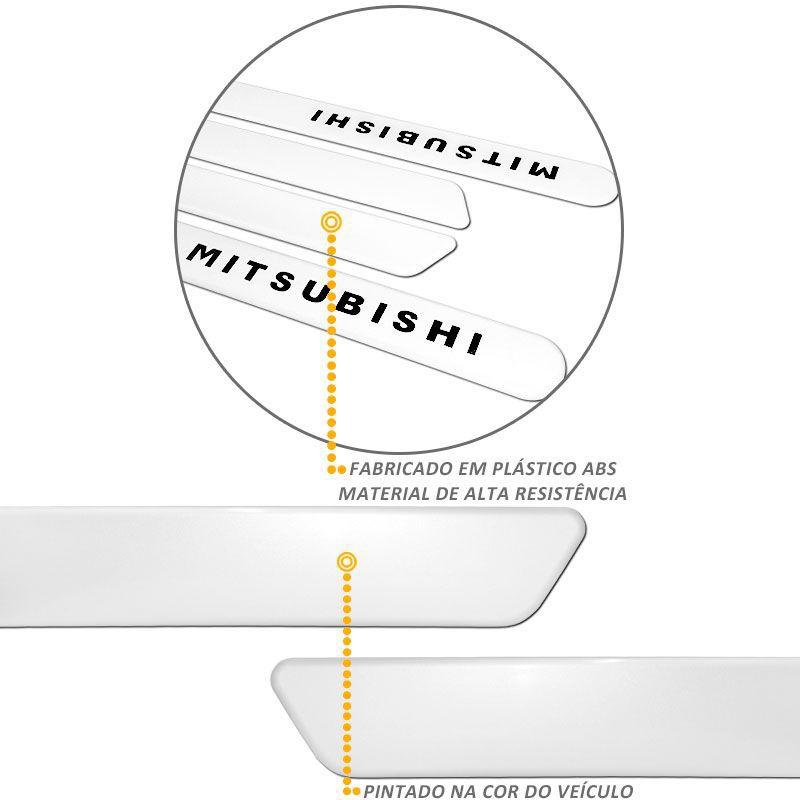 Jogo de Friso Lateral L200 Triton 2010/2015 Branco Alpino
