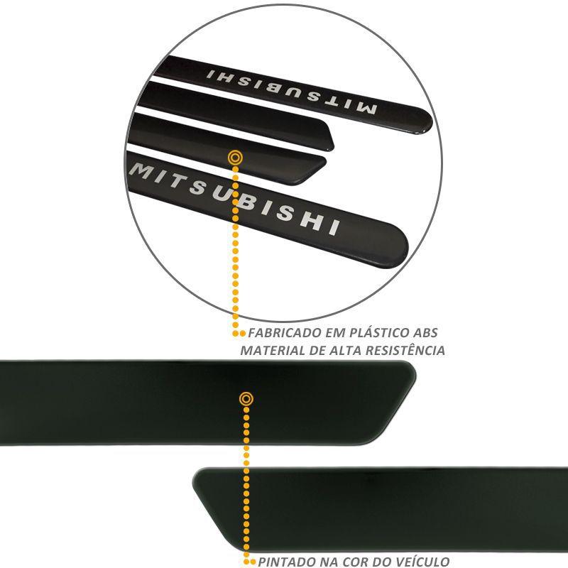 Jogo de Friso Lateral L200 Triton 2010 a 2020 Cinza Londrino