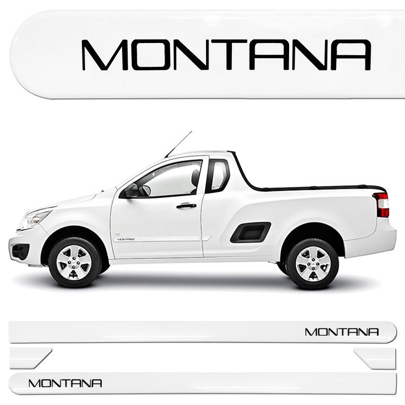 Jogo de Friso Lateral Montana Nova Branco Summit