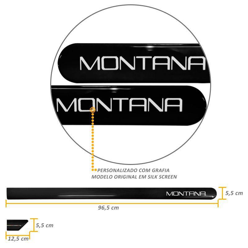 Jogo de Friso Lateral Montana Nova Preto Global