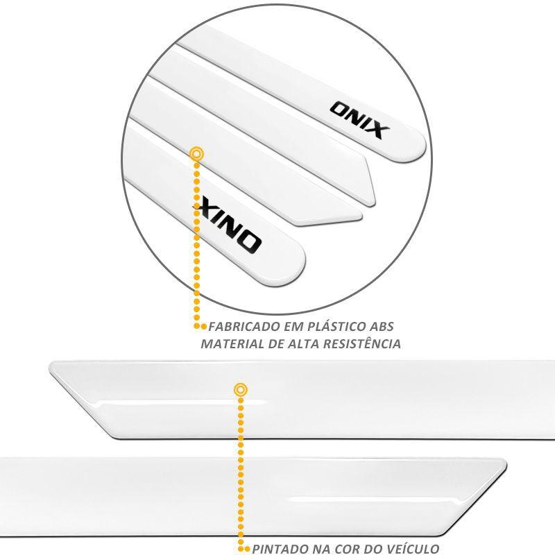 Jogo de Friso Lateral Onix 2013 a 2015 Branco Summit