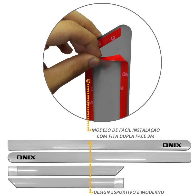 Jogo de Friso Lateral Onix Prata Switchblade
