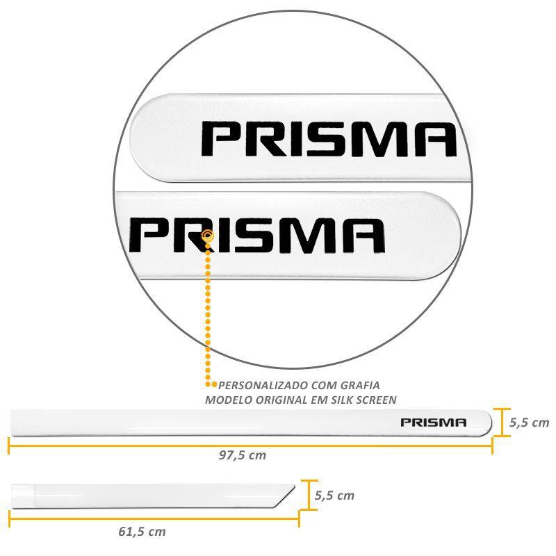 Jogo de Friso Lateral Prisma 2007 a 2019 Branco Summit