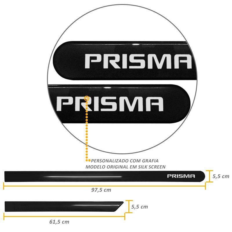 Jogo de Friso Lateral Prisma Preto Global
