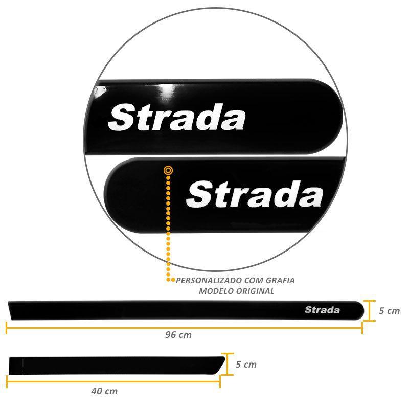 Jogo de Friso Lateral Strada 2012/.. Preto Vulcano