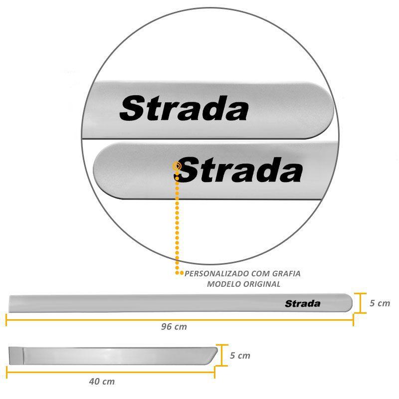 Jogo de Friso Lateral Strada 2012/.. Prata Bari