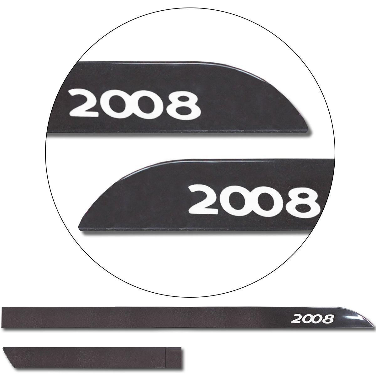 Jogo De Friso Lateral Peugeot 2008 2015 a 2019 Facão Dark Carmim