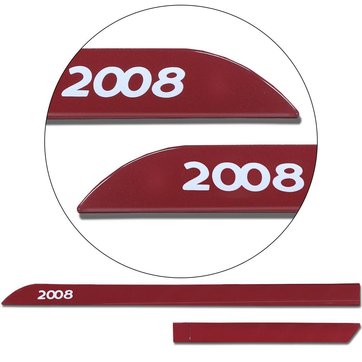 Jogo De Friso Lateral Peugeot 2008 2015 a 2019 Facão Vermelho Rubi