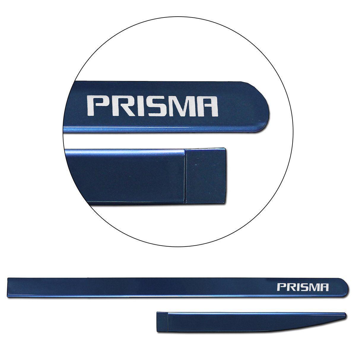 Jogo de Friso Lateral Prisma 2007 a 2019 Azul Sky
