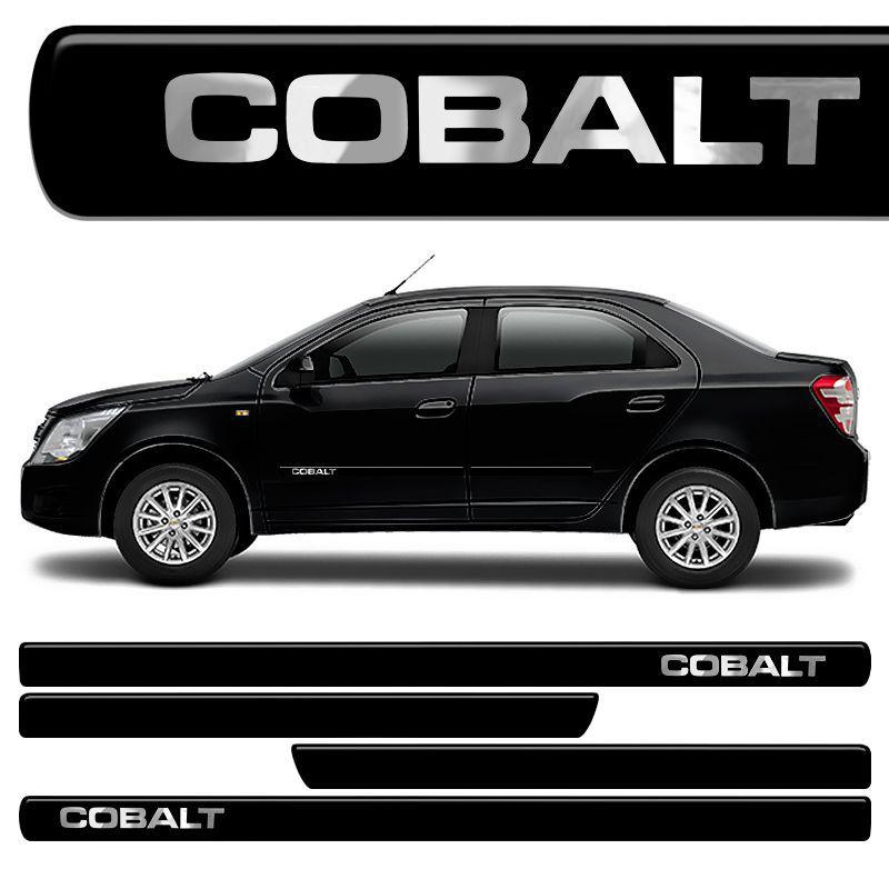 Jogo Friso Lateral Cobalt Resinado Preto