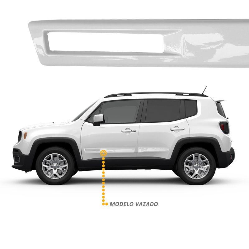 Jogo de Friso Lateral TopMix para Jeep Renegade Vazado Cor Branco Ambiente