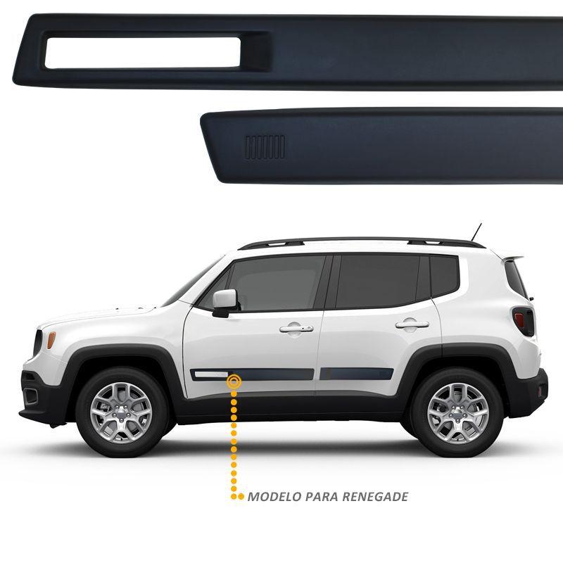 Jogo de Friso Lateral Jeep Renegade Vazado Sem Pintura PU