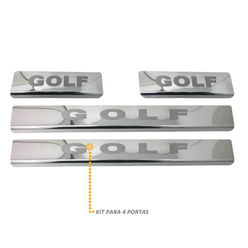 Jogo Soleira Porta Golf 2013 a 2015 Aço Inox