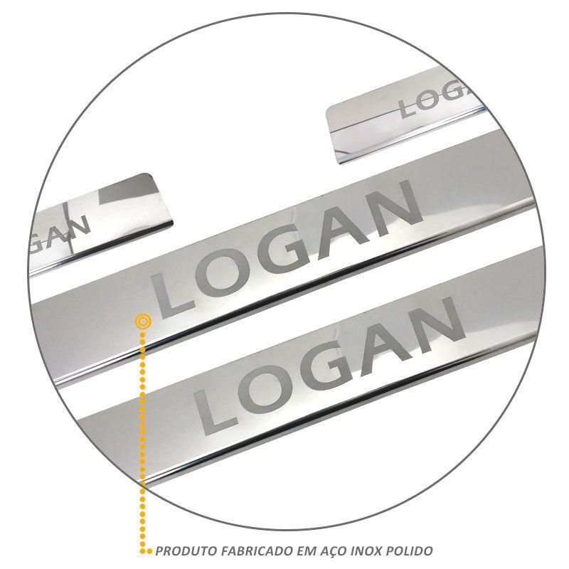 Jogo de Soleira Logan 2014/2015 Aço Inox 4 Peças