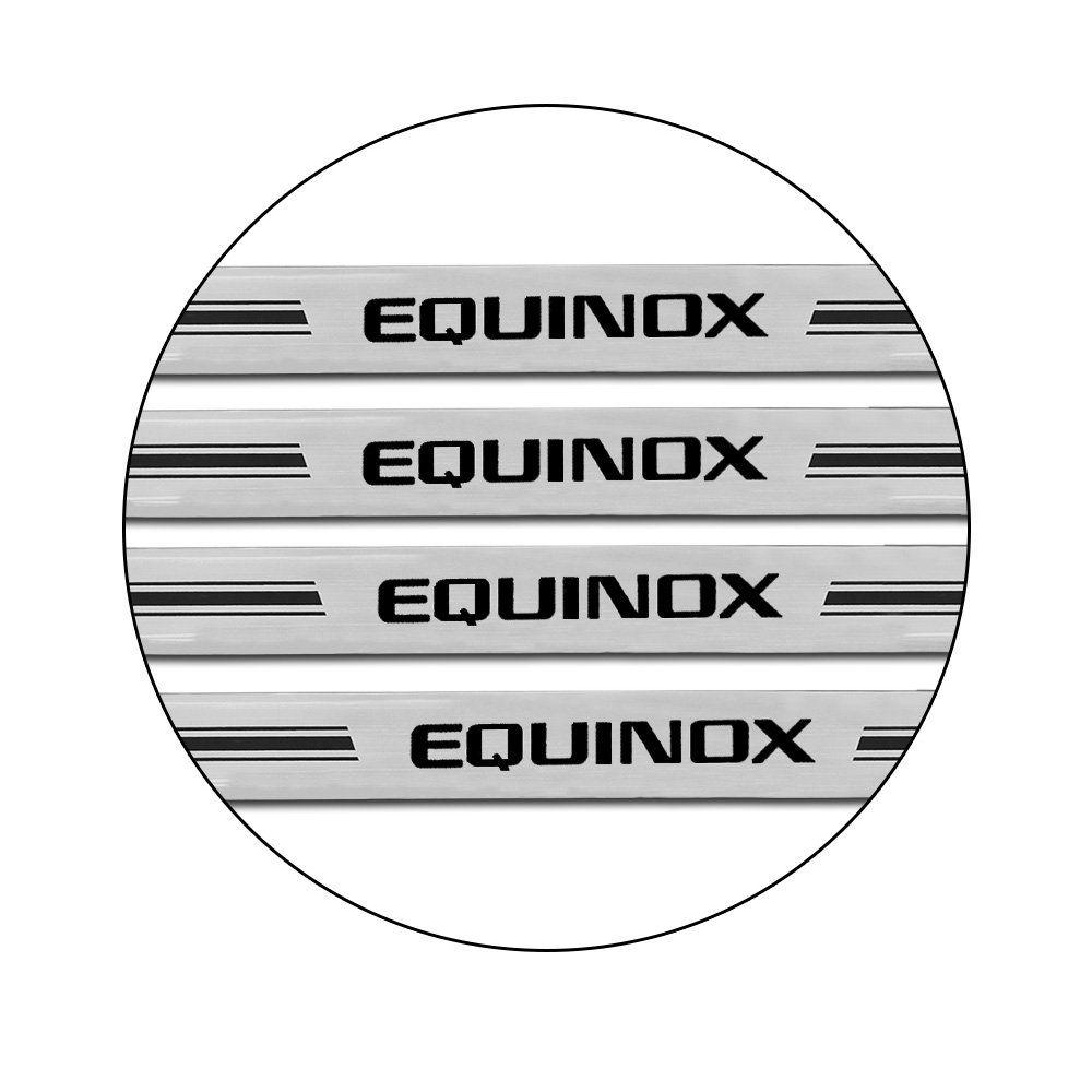 Jogo de Soleira Equinox 2018 2019 Resinada Prata M6
