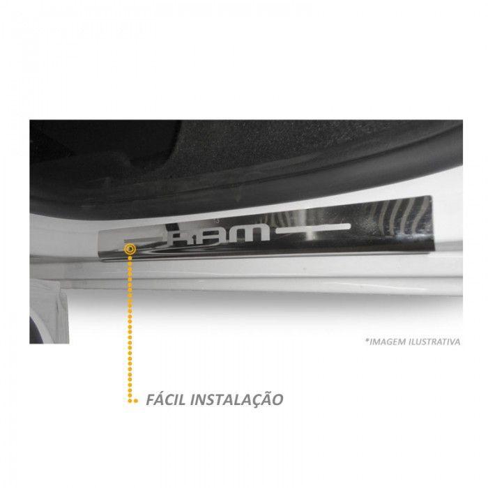 Jogo de Soleira em Aço Inox Polido Dodge Ram - 04 Peças
