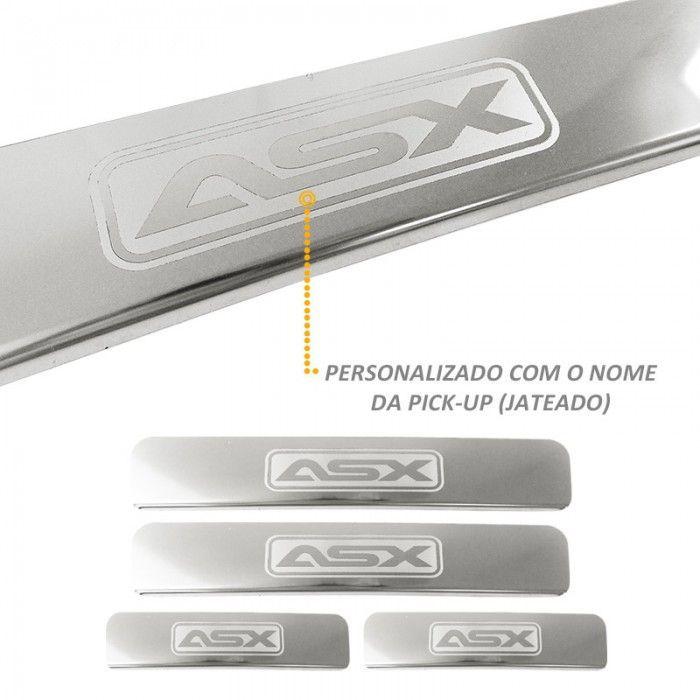 Jogo de Soleira em Aço Inox Polido Mitsubishi ASX 04 Peças