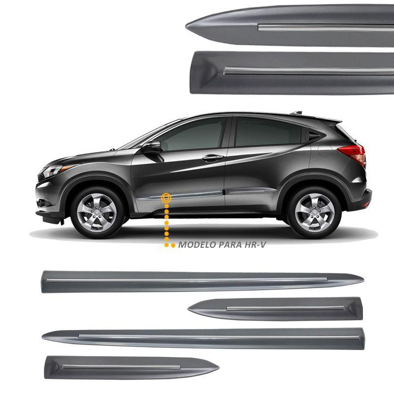 Jogo de Friso Lateral Honda HRV Cinza Iridium - Modelo Original