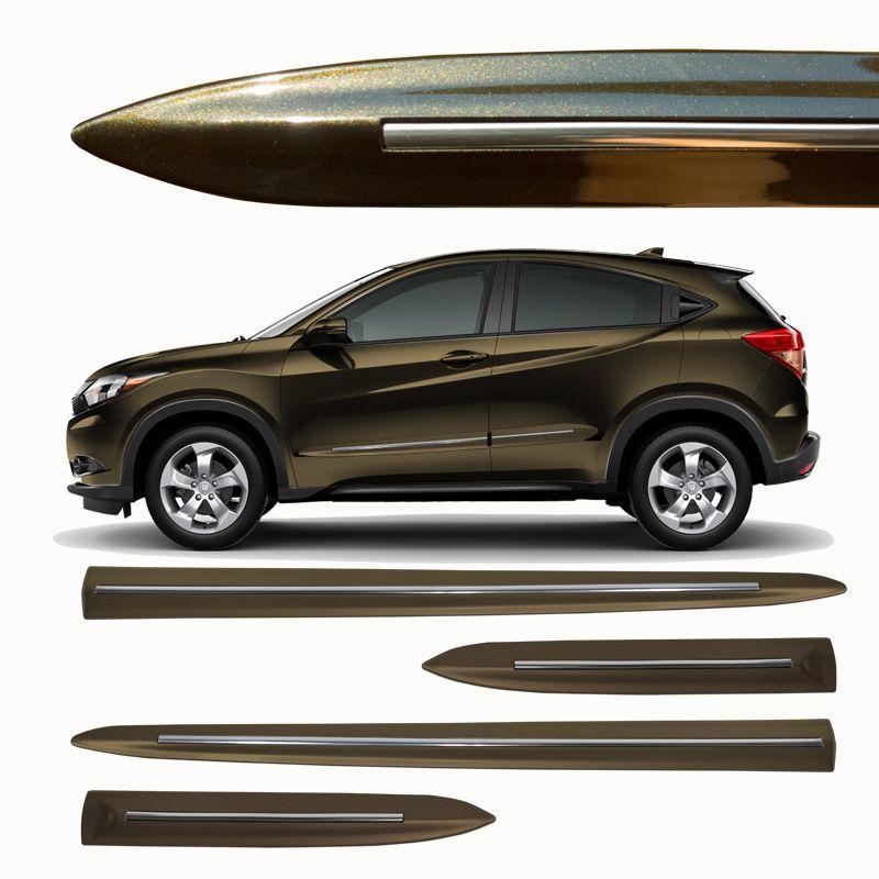 Jogo de Friso Lateral Honda HRV Marrom Jupiter - Modelo Original