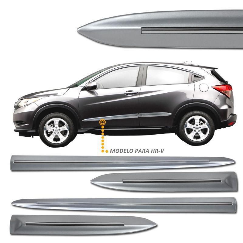 Jogo de Friso Lateral Honda HRV Prata Global - Modelo Original