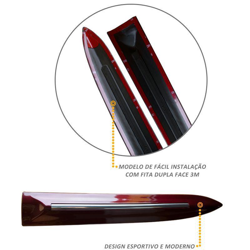 Jogo de Friso Lateral HRV Vermelho Mercurio - Modelo Original