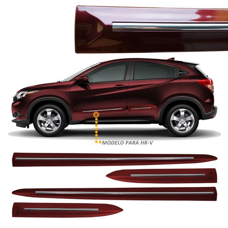 Jogo de Friso Lateral Honda HRV Vermelho Mercurio - Modelo Original