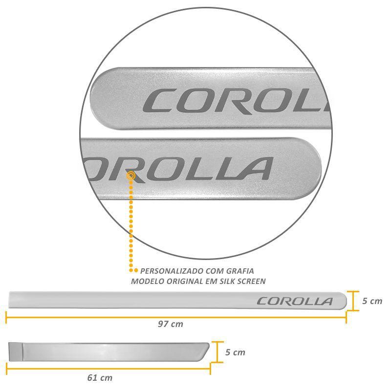 Jogo de Friso Lateral Corolla 2015 a 2019 Prata Supernovo