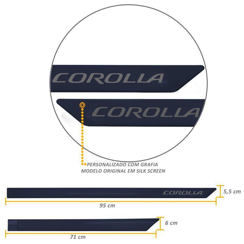 Jogo de Friso Lateral Corolla 2015 a 2019 Azul Cosmico