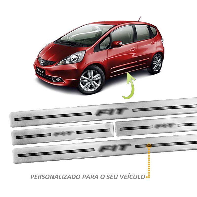 Jogo Soleira Resinada New Fit Prata 4 Peças Modelo Original