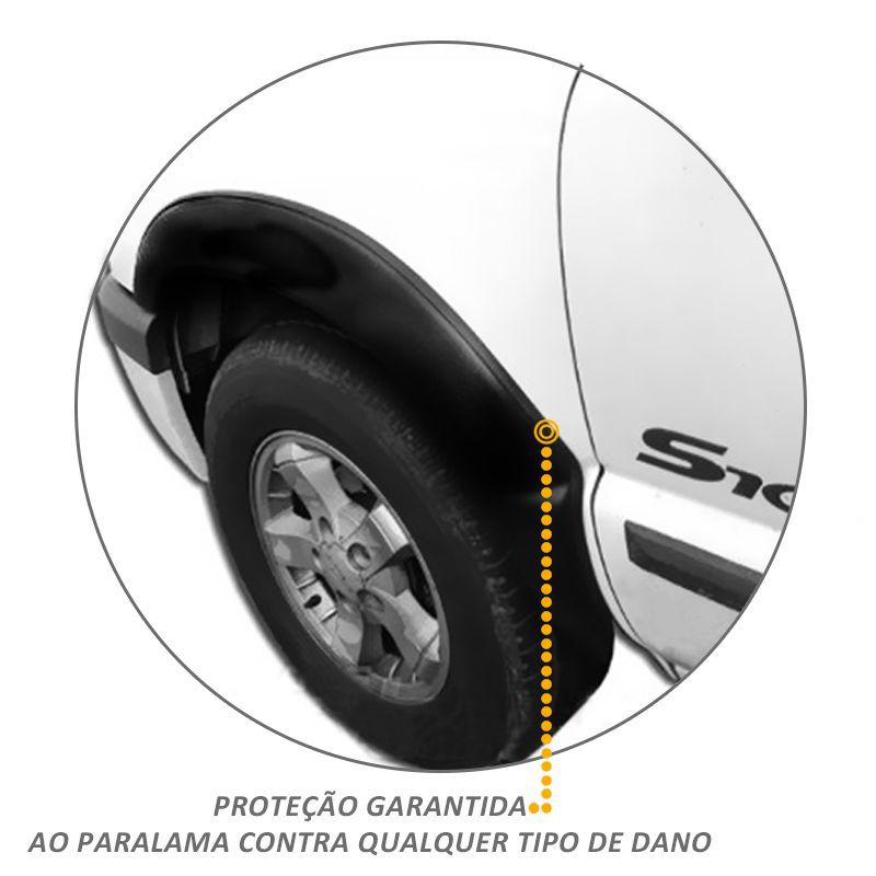 Kit Alargador Paralama Dianteiro Traseiro S10 CD 1995 a 2000
