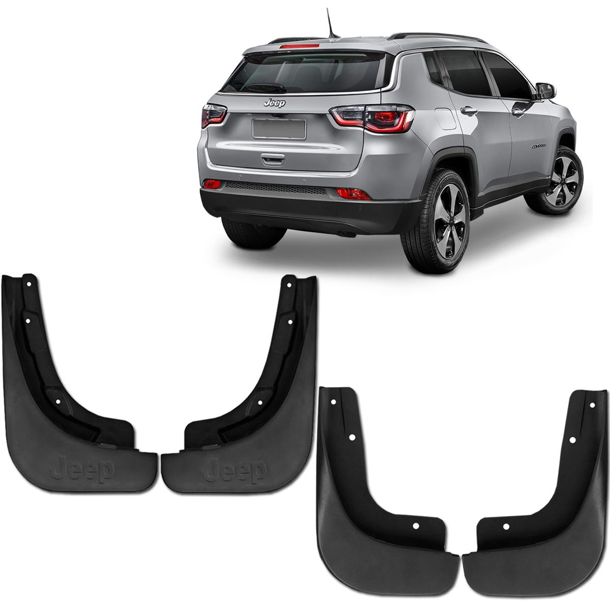 Kit Apara Barro Lameira Jeep Compass 2017 a 2019 Dfender
