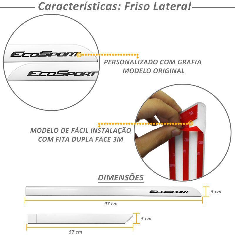 Kit Friso Lateral e Capa Estepe Bepo Ecosport Branco Ártico