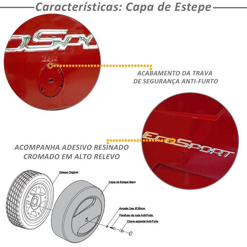 Kit Capa Estepe Bepo e Friso Ecosport Vermelho Arpoador