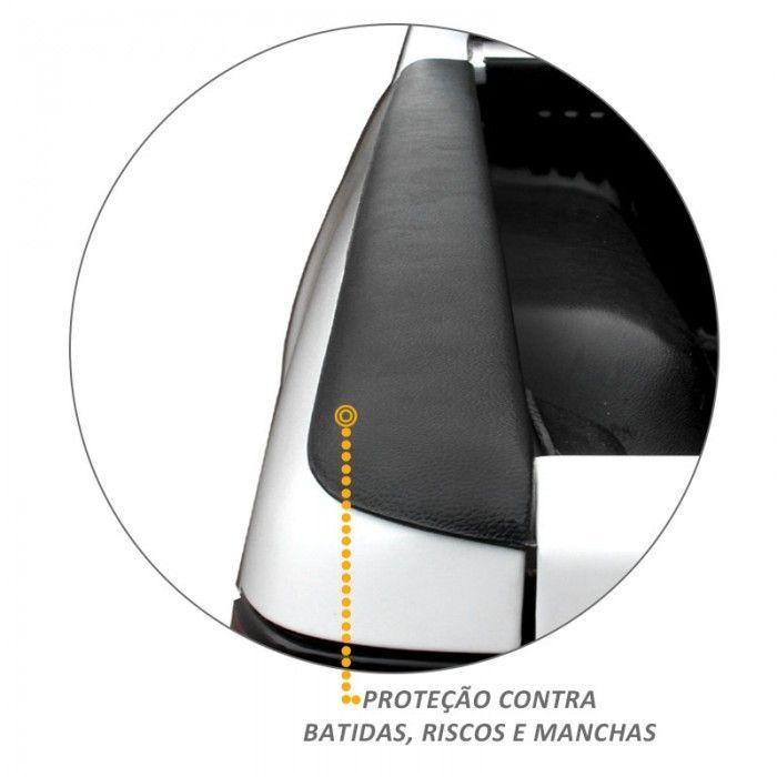 Kit Protetor de Borda Hilux CD 2005 a 2015 Lateral e Tampa Caçamba