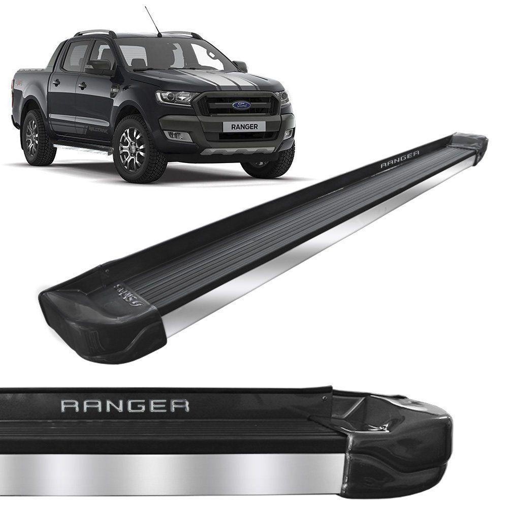 Estribo Lateral Ranger 2013 a 2020 Cinza Moscou Stribus