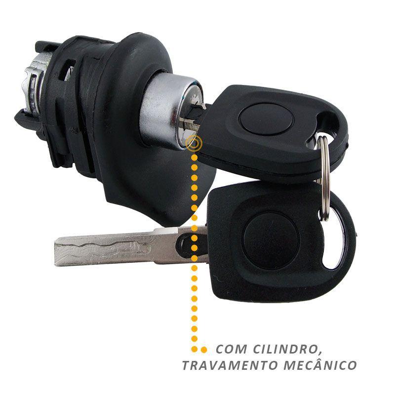 Maçaneta Externa Porta Malas Mecânica Vw Gol G4 Com Chave